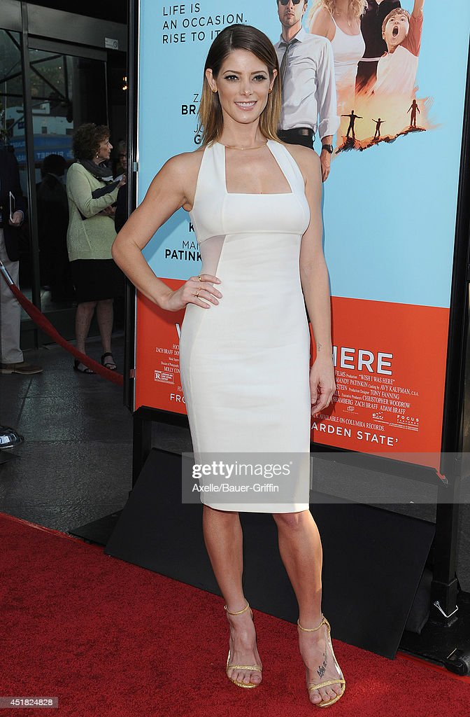 Actress Ashley Greene arrives at the Los Angeles Premiere 'Wish I Was Here' at the DGA Theater on June 23, 2014 in Los Angeles, California.