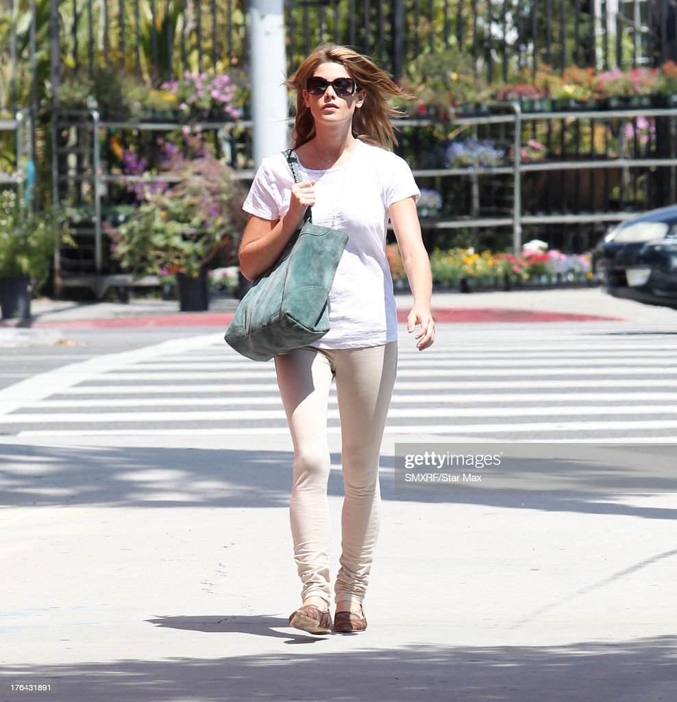Actress Ashley Greene as seen on August 12, 2013 in Los Angeles, California.