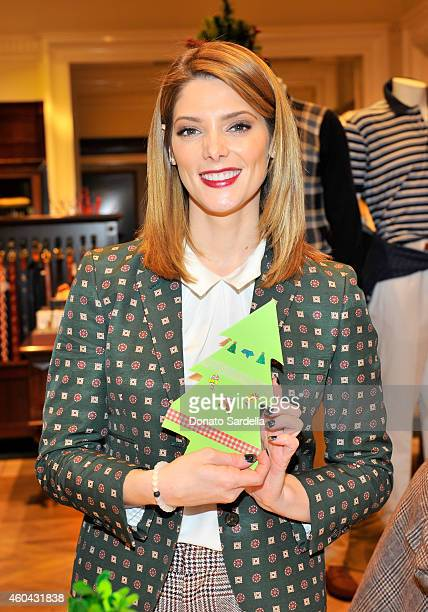 Actress Ashley Greene attends as Brooks Brothers celebrates the holidays with St Jude Children's Research Hospital and Town Country at Brooks...