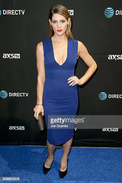 Actress Ashley Greene attends DirecTV Super Saturday Night Cohosted by Mark Cuban's AXS TV at Pier 70 on February 6 2016 in San Francisco California