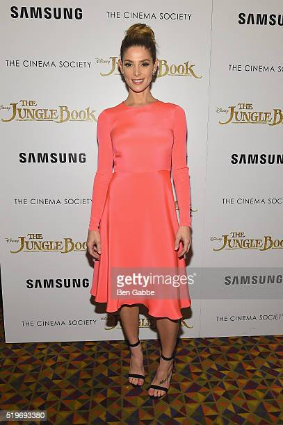 Actress Ashley Greene attends Disney with The Cinema Society Samsung host a screening of The Jungle Book at AMC Empire 25 theater on April 7 2016 in...