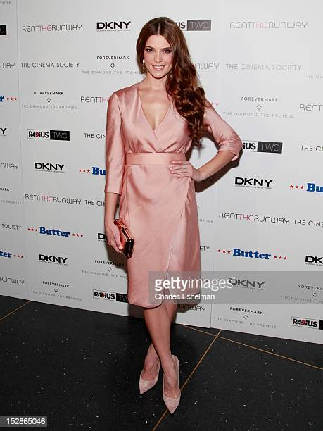 Actress Ashley Greene attends The Cinema Society with DKNY Forevermark RentTheRunwaycom premiere of 'Butter' at AMC Lincoln Square Theater on...