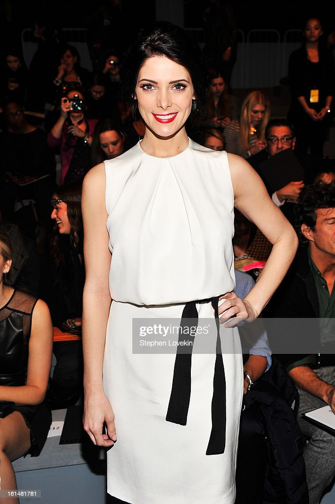 Actress Ashley Greene attends the Kaufmanfranco Fall 2013 fashion show during Mercedes-Benz Fashion Week at The Stage at Lincoln Center on February 11, 2013 in New York City.