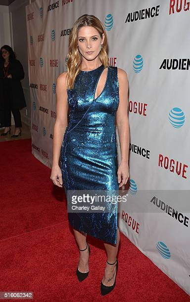 Actress Ashley Greene attends the party celebrating ATT's 'ROGUE' at the London Hotel on March 16 2016 in Los Angeles California