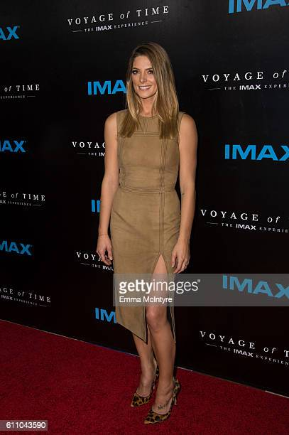 Actress Ashley Greene attends the premiere of IMAX's 'Voyage Of Time The IMAX Experience' at California Science Center on September 28 2016 in Los...