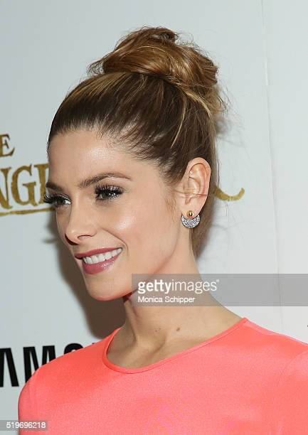 Actress Ashley Greene hair detail attends Disney With The Cinema Society Samsung Host A Screening Of 'The Jungle Book' at AMC Empire 25 theater on...