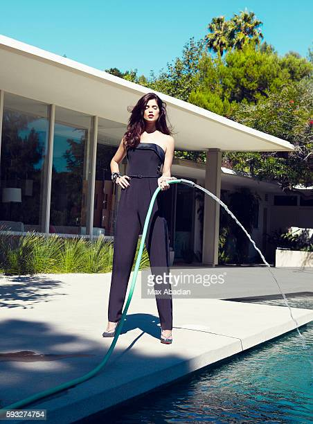 Actress Ashley Greene is photographed for Flare Magazine on July 18, 2011. Hair by Ted Gibson and makeup by Vanessa Scali. Silk jumpsuit by Arthur...