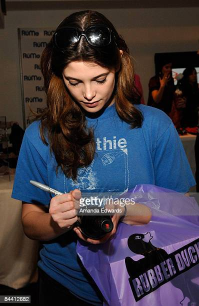 Actress Ashley Greene poses at Little Black Dress Wines at Kari Feinstein Golden Globes Style Lounge held at Zune LA on January 9, 2009 in Los...