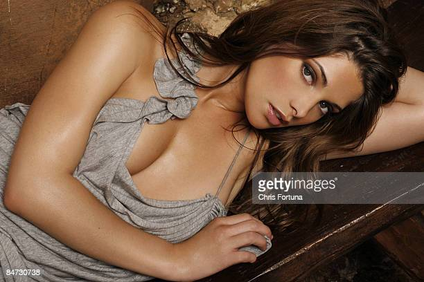 Actress Ashley Greene poses for a portrait session in Los Angeles for Maxim