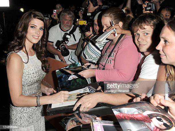 Actress Ashley Greene signs autographs for fans at the 'Butter' Premiere at Roy Thomson Hall during the 2011 Toronto International Film Festival on...