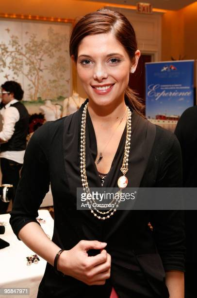 Actress Ashley Greene wearing a necklace from Vintagebling at the Oh Canada Gift Suite at Peninsula Hotel on January 15 2010 in Beverly Hills...