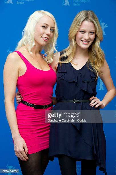 Actress Ashley Hinshaw and actress and scriptwriter Lorelei Lee attend the Cherry Photocall during the 62nd Berlin International Film Festival in...
