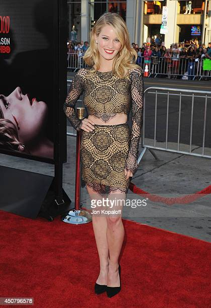 """Actress Ashley Hinshaw arrives at HBO's """"True Blood"""" Final Season Premiere at TCL Chinese Theatre on June 17, 2014 in Hollywood, California."""