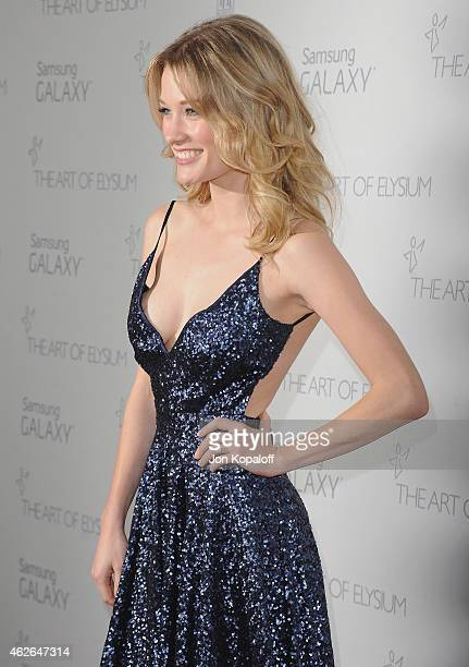 Actress Ashley Hinshaw arrives at The Art Of Elysium 8th Annual Heaven Gala at Hangar 8 on January 10 2015 in Santa Monica California