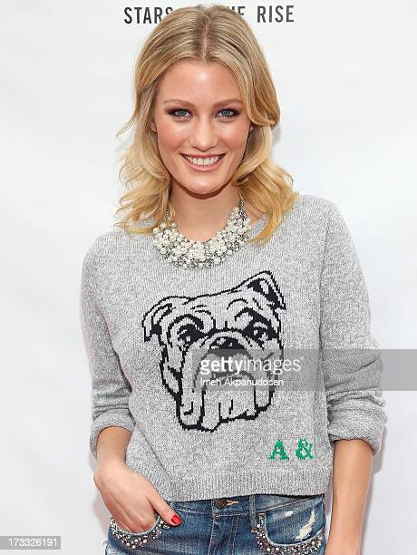 Actress Ashley Hinshaw attends Abercrombie Fitch's presentation of their 2013 Stars on the Rise at The Grove on July 11 2013 in Los Angeles California