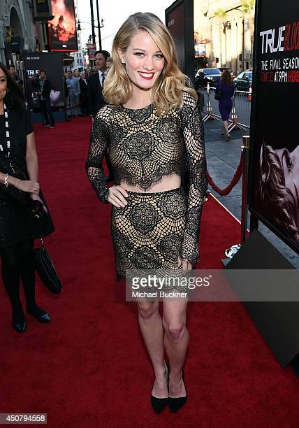 Actress Ashley Hinshaw attends Premiere Of HBO's True Blood Season 7 And Final Season at TCL Chinese Theatre on June 17 2014 in Hollywood California