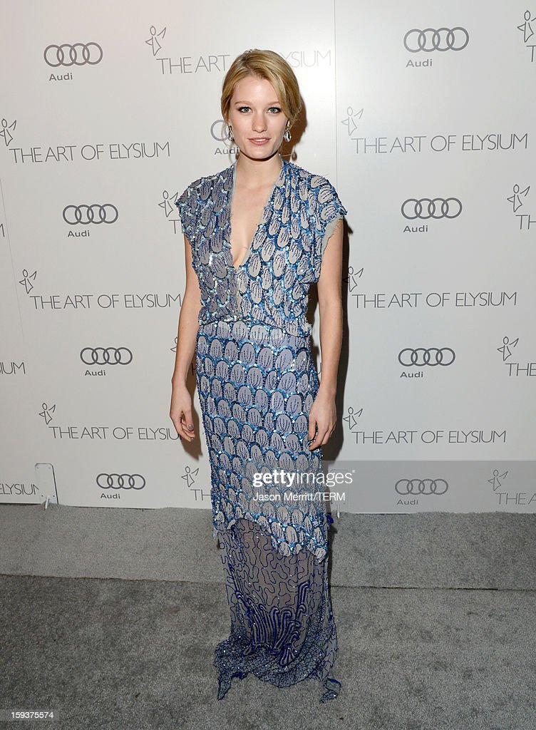Actress Ashley Hinshaw attends The Art of Elysium's 6th Annual HEAVEN Gala presented by Audi at 2nd Street Tunnel on January 12, 2013 in Los Angeles, California.