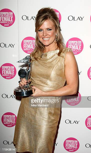 Actress Ashley Jensen arrives at Cosmopolitan's Ultimate Women of the Year Awards at Cirque on November 6 2007 in London England