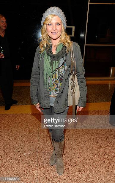 Actress Ashley Jensen attends the Australians In Film Screening of 'The Hunter' at Linwood Dunn Theater at the Pickford Center for Motion Study on...