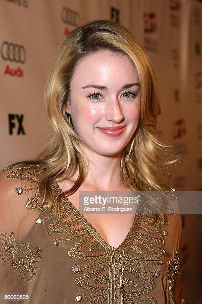 Actress Ashley Johnson arrives at the 2nd season premiere screening of FX Network's Dirt held at the Arclight theaters on February 28 2008 in...