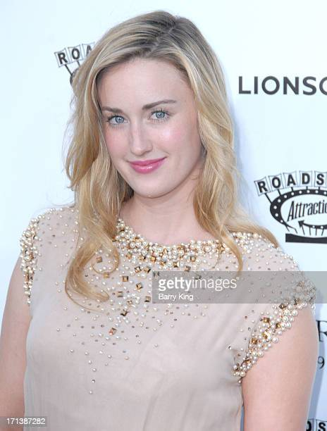 Actress Ashley Johnson arrives at the Los Angeles screening of 'Much Ado About Nothing' held at Oscars Outdoors on June 5 2013 in Hollywood California