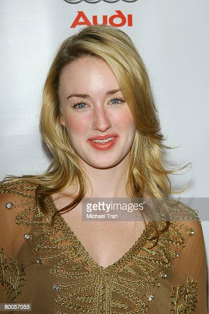 Actress Ashley Johnson arrives at the season two premiere screening of the F/X Network show DIRT held at Arclight Cinemas on February 28 2008 in...