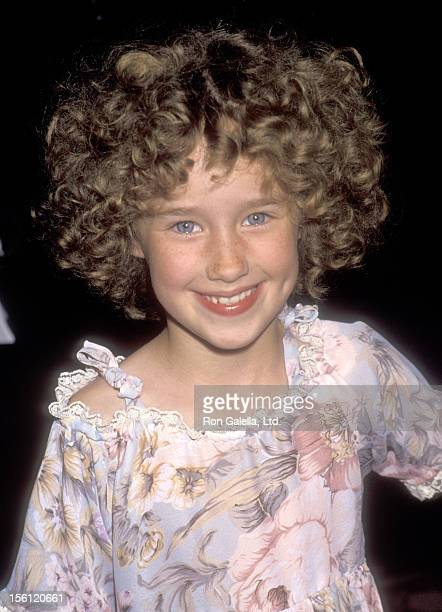 Actress Ashley Johnson attends the Little Green Awards on May 28, 1991 at the Warner Marriott Hotel in Woodland Hills, California.
