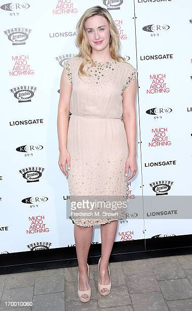 Actress Ashley Johnson attends the screening of Lionsgate and Roadside Attractions' Much Ado About Nothing at Oscar's Outdoors Hollywood theater on...