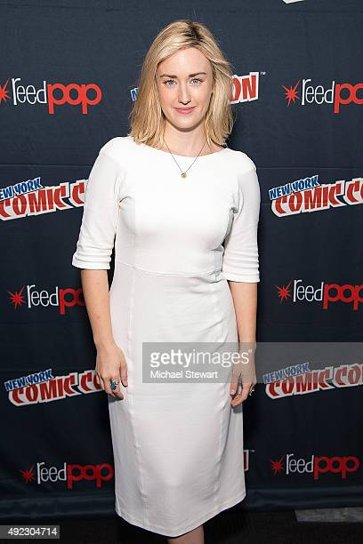 Actress Ashley Johnson poses in the press room for the Blindspot panel during ComicCon Day 4 at The Jacob K Javits Convention Center on October 11...