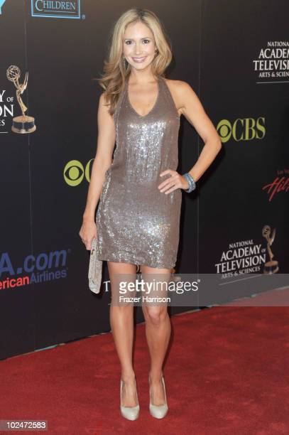 Actress Ashley Jones arrives at the 37th Annual Daytime Entertainment Emmy Awards held at the Las Vegas Hilton on June 27 2010 in Las Vegas Nevada