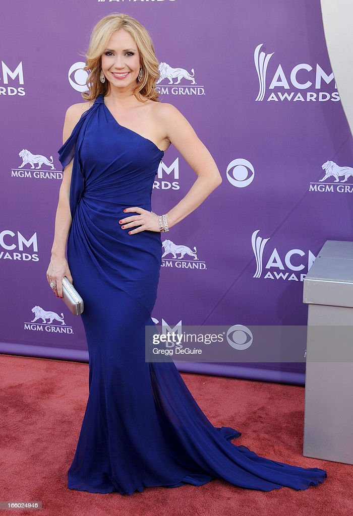 Actress Ashley Jones arrives at the 48th Annual Academy Of Country Music Awards at MGM Grand Garden Arena on April 7, 2013 in Las Vegas, Nevada.
