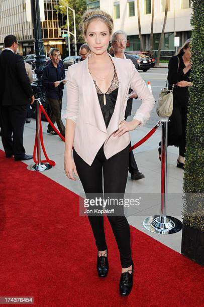 Actress Ashley Jones arrives at the Los Angeles Premiere 'Blue Jasmine' at the Academy of Motion Picture Arts and Sciences on July 24 2013 in Beverly...