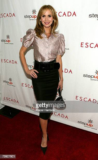 Actress Ashley Jones arrives to the Step Up Women's Network toast with Escada and Jessica Alba held in Forbes Penthouse Suite at the Beverly Wilshire...