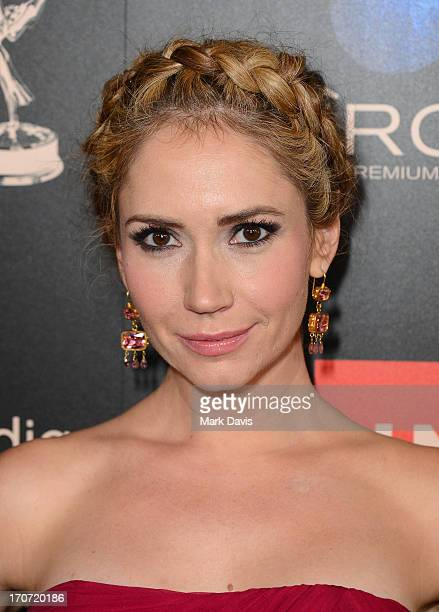 Actress Ashley Jones attends The 40th Annual Daytime Emmy Awards at The Beverly Hilton Hotel on June 16 2013 in Beverly Hills California