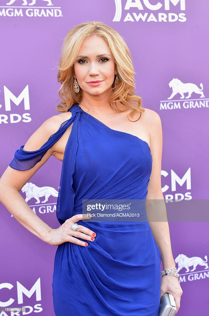 Actress Ashley Jones attends the 48th Annual Academy of Country Music Awards at the MGM Grand Garden Arena on April 7, 2013 in Las Vegas, Nevada.