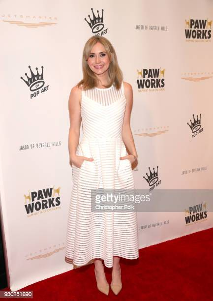 Actress Ashley Jones attends the James Paw 007 Ties Tails Gala at the Four Seasons Westlake Village on March 10 2018 in Westlake Village California