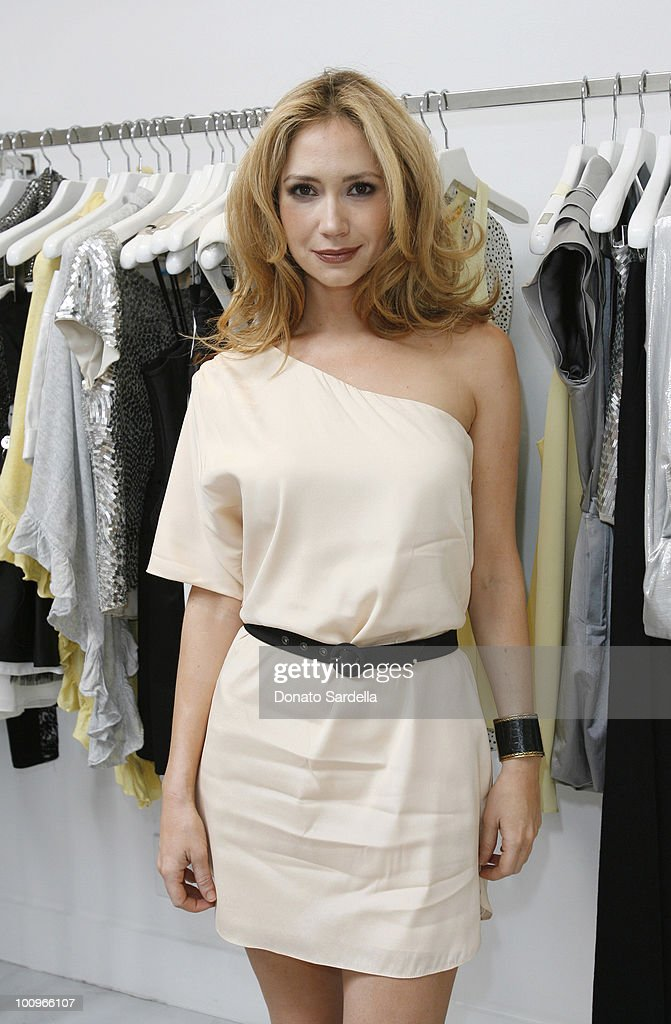 Actress Ashley Jones in Alice + Olivia attends Alice + Olivia Tea Party Benefitting Children's Defense Fund on May 23, 2010 in Los Angeles California.