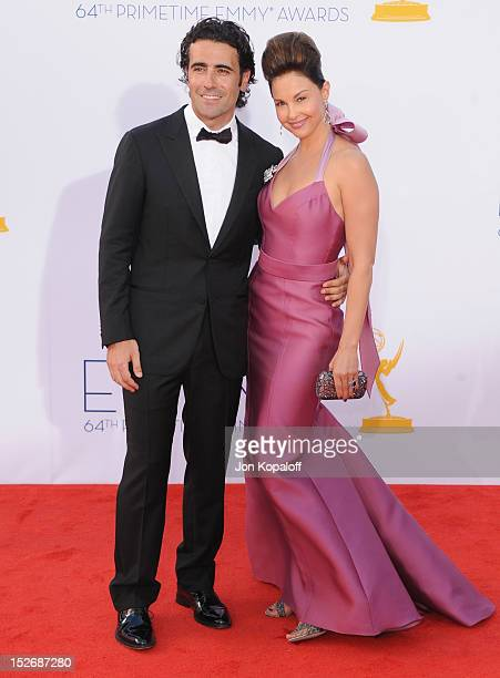 Actress Ashley Judd and husband Dario Franchitti arrive at the 64th Primetime Emmy Awards at Nokia Theatre LA Live on September 23 2012 in Los...