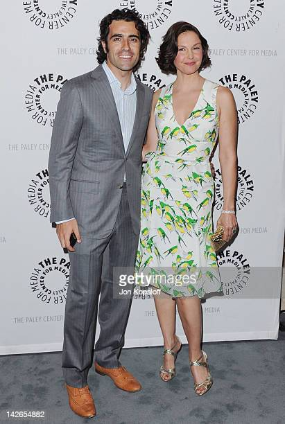 Actress Ashley Judd and husband Dario Franchitti arrive at The Paley Center for Media premiere screening of Missing at The Paley Center for Media on...