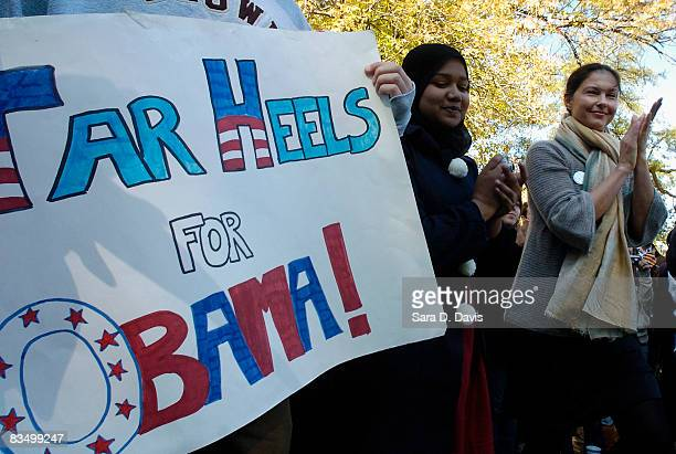 Actress Ashley Judd arrives at a campaign event for Democratic presidential candidate Barack Obama at the University of North Carolina on October 30...