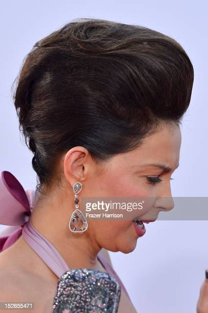 Actress Ashley Judd arrives at the 64th Annual Primetime Emmy Awards at Nokia Theatre LA Live on September 23 2012 in Los Angeles California