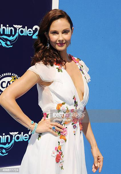 Actress Ashley Judd arrives at the Los Angeles premiere of 'Dolphin Tale 2' at Regency Village Theatre on September 7 2014 in Westwood California