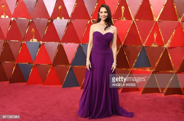 US actress Ashley Judd arrives for the 90th Annual Academy Awards on March 4 in Hollywood California / AFP PHOTO / ANGELA WEISS