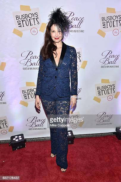 Actress Ashley Judd attends the Busboys and Poets' Peace Ball Voices of Hope and Resistance at National Museum Of African American History Culture on...
