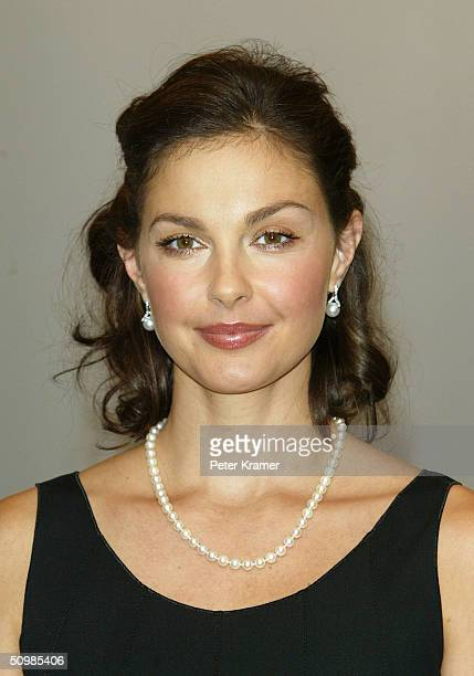 Actress Ashley Judd makes an appearance at Bloomingdales for a window unveiling of Georgio Armani fashions which he created for the new movie...