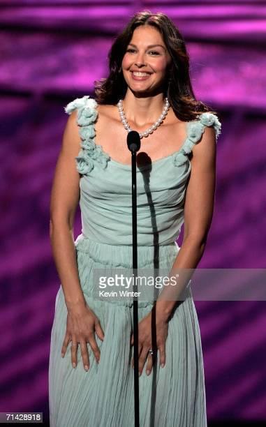 Actress Ashley Judd presents the Arthur Ashe Award at the 2006 ESPY Awards at the Kodak Theatre on July 12 2006 in Hollywood California