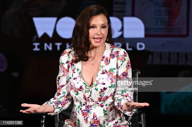 Actress Ashley Judd speaks onstage during the 'Feminism A Battlefield Report' session at the 10th Anniversary Women In The World Summit Day 2 at...
