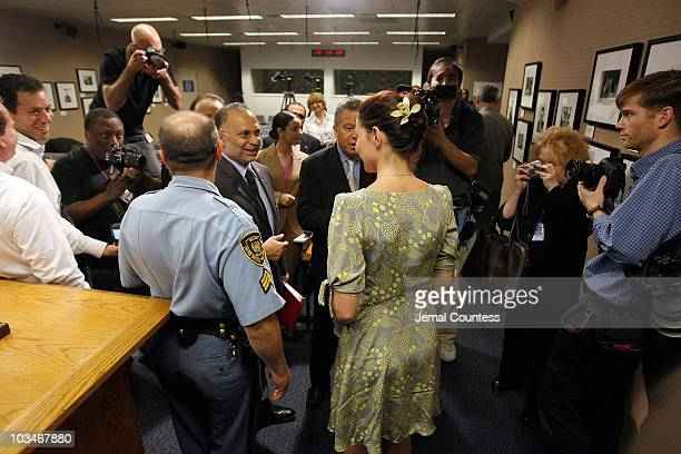 Actress Ashley Judd speaks to members of the press following a special thematic debate at the United Nations to focus global attention on Human...