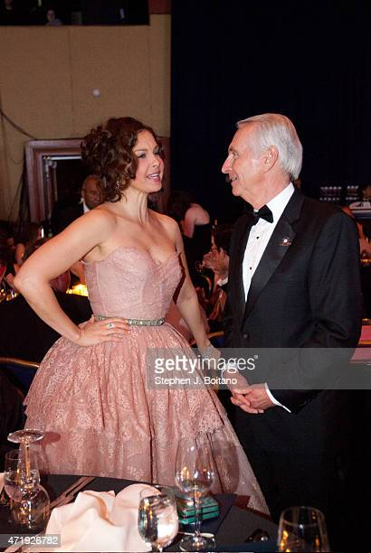 Actress Ashley Judd speaks with Governor Steve Beshear at the 17th Kentucky Society Bluegrass Ball in Washington DC