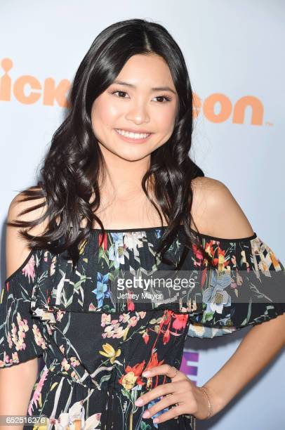 Actress Ashley Liao arrives at the Nickelodeon's 2017 Kids' Choice Awards at USC Galen Center on March 11 2017 in Los Angeles California
